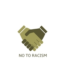 No to racism vector image