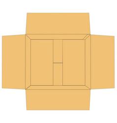 Open carton box vector