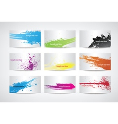 Paint splatter set vector