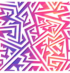 pink color maze seamless pattern vector image