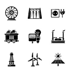 power state icons set simple style vector image