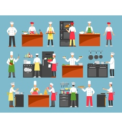 Professional Cooking Decorative Icons Set vector image