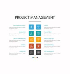 Project management infographic 10 option concept vector
