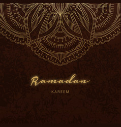 Ramadan kareem greeting card islamic holiday vector