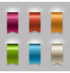 Realistic Ribbon Set vector
