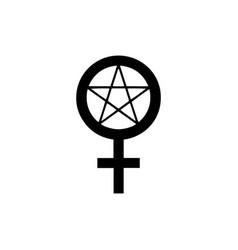 Satanic temple icon wiccan symbol pentagram vector