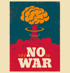 Say no to war vector
