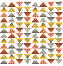 seamless pattern with golden and silver vector image