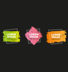 set modern abstract banners brush vector image