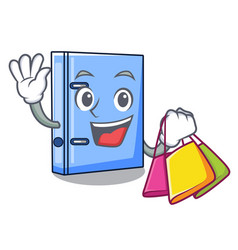 shopping office binder with file character funny vector image