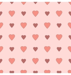 Simple and cute varicolored hearts seamless vector