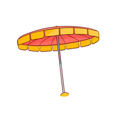 Sketch beach sun umbrella icon vector