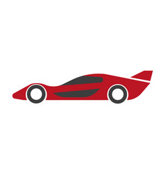 speed modern red car with spoiler isolated vector image