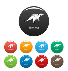 spinosaurus icons set color vector image