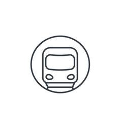 Subway metro underground icon linear vector