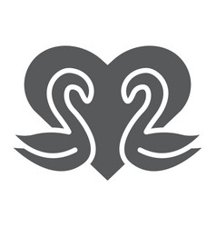 swans glyph icon romance and love swans and vector image