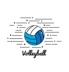 Symbol volleyball play icon vector