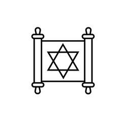 Torah icon vector