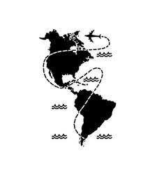 travel around continent vector image