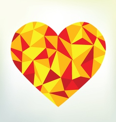 Triangular Heart Shape vector