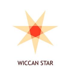 Wiccan star pagan symbol - emblem in warm colors vector
