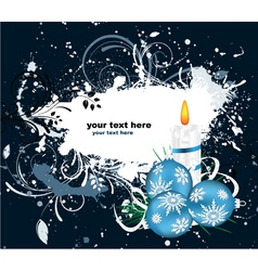 winter greeting card vector image