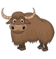 Yak cartoon vector image