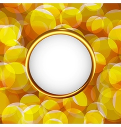 Yellow photo frame vector image