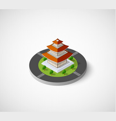 Chinese pagoda building vector