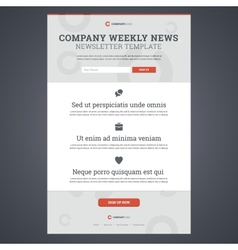 Company news newsletter template vector image vector image