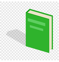 green closed book isometric icon vector image