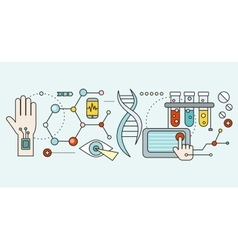 Laboratory with human dna concept scientific vector