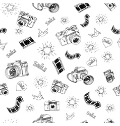 Photography sign and symbol doodles hand drawn set vector image vector image