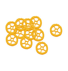 rotelle pasta raw pasta macaroni cartoon vector image