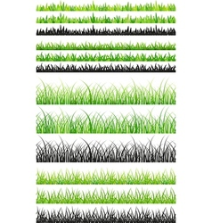 Seamless grass set vector image