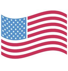 Waving American flag vector image vector image