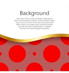 Abstract background The template design booklet vector image