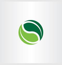 bio logo element green leaves icon vector image vector image
