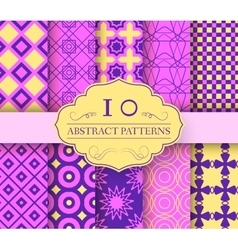 collection set abstract swatches seamless pattern vector image