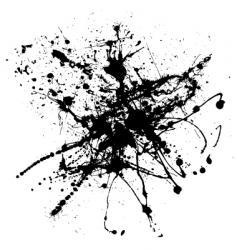 dribble blob vector image vector image