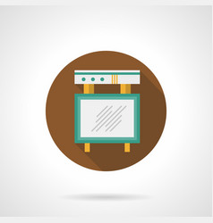 events board flat round icon vector image vector image