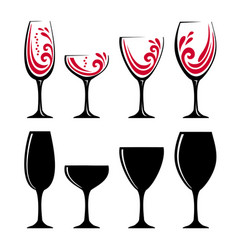glass of red wine or juice vector image vector image