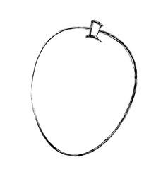 mango fresh fruit icon vector image vector image