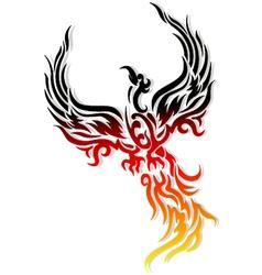 Mythical phoenix bird vector image vector image