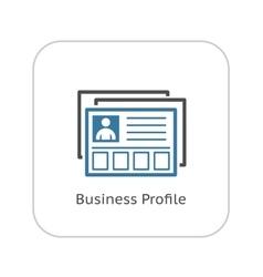 Business Profile Icon Flat Design vector image