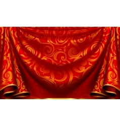 Curtain pattern vector image vector image