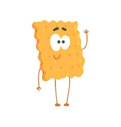 cute biscuit character cartoon funny dessert vector image