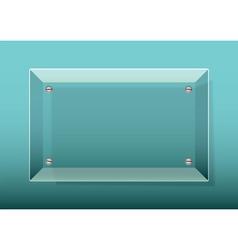 glass plaquexa vector image