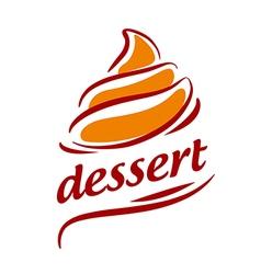 logo abstract orange cream vector image vector image