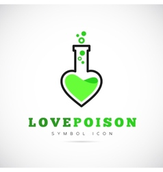 Love Poison Concept Symbol Icon or Logo Template vector image vector image